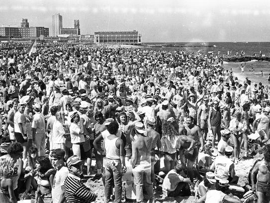 The beach in Asbury Park on May 27, 1988.
