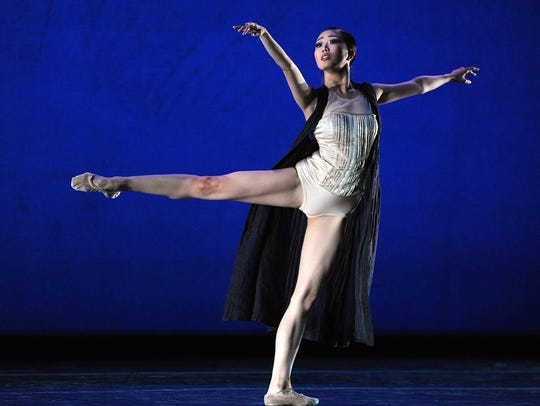 Shiori Kase of Japan dances to an excerpt from Robust