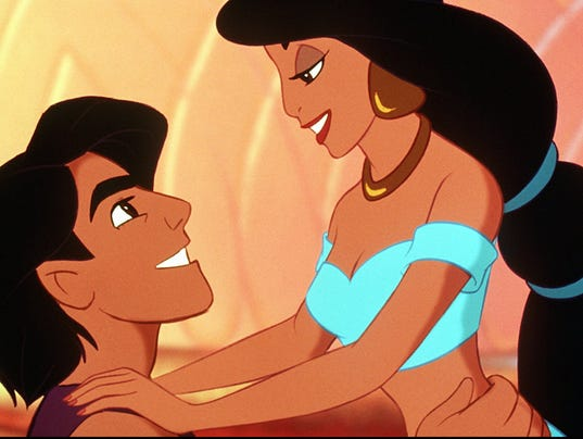 Image result for aladdin and princess