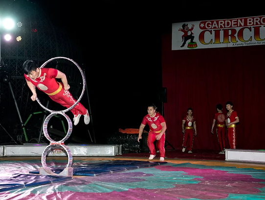 The Garden Bros. Circus will have shows at 4:30 and
