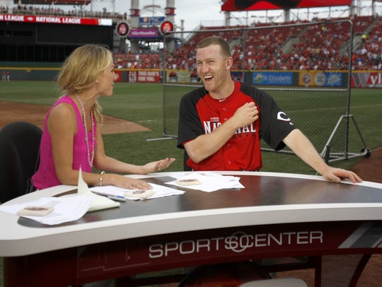 Todd Frazier is interviewed by ESPN anchor Lindsay