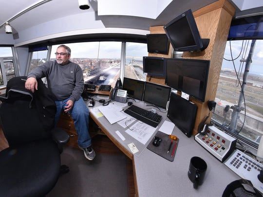 Lockmaster Tom Soltar is in control of the operations from his perch high above the water. The Army Corps of Engineers is trying to head off a failure of a lock system through which nearly 80 million tons of goods and raw materials pass each year.