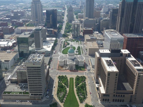 From the observation deck at the top of the Gateway