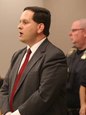 Assistant District Attorney Larry Glasser during the bail application by Anthony DiPippo at the Putnam County Courthouse in Carmel, June 1, 2016. DiPippo is facing his third trial in the 1994 murder of 12-year-old Josette Wright in Putnam County.