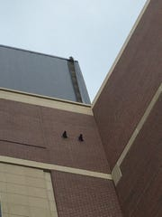 The east elevator tower at Doak Campbell Stadium.