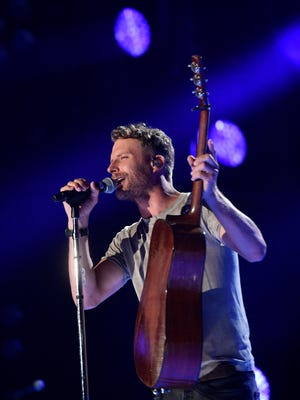 Dierks Bentley performs at Nissan Stadium on the first day of CMA Fest 2017, on Thursday, June 8, 2017, in Nashville.