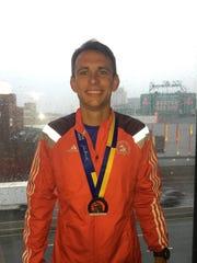 Tom Parker ran his first Boston Marathon Monday.