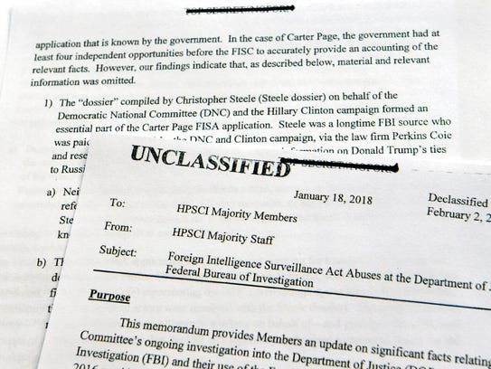 A intelligence memo is photographed in Washington,