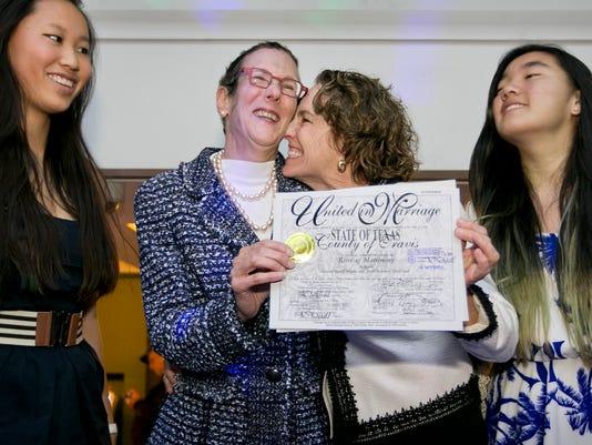 AP GAY MARRIAGE TEXAS A USA TX