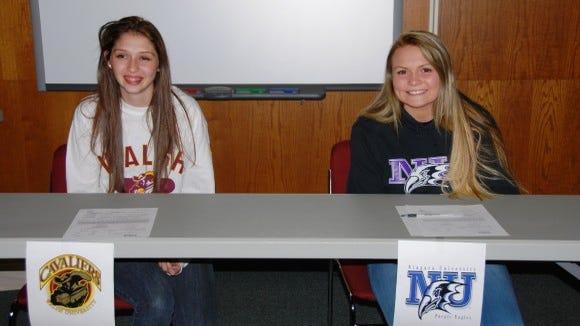 Webster Schroeder athletes Meghan Skrypka and Rachel