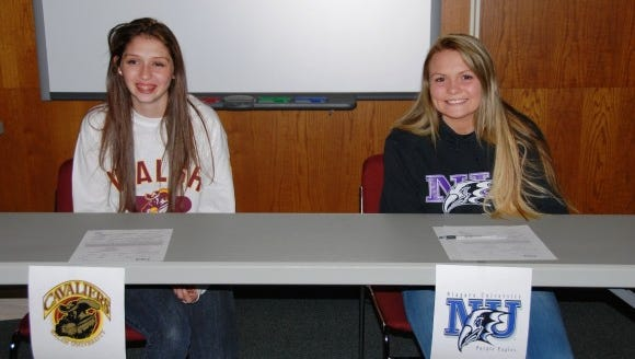 Webster Schroeder athletes Meghan Skrypka and Rachel MacCheyne.