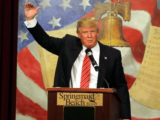 Donald Trump speaks at the South Carolina Tea Party