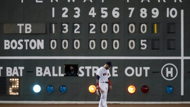 Outfielder Alex Verdugo and the Boston Red Sox fell to 6-12 on the season following the organization's 12th straight home loss to the Tampa Bay Rays, Wednesday, at Fenway Park.