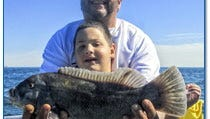 This nice tog was taken aboard the Angler out of Atlantic Highlands on Sunday.