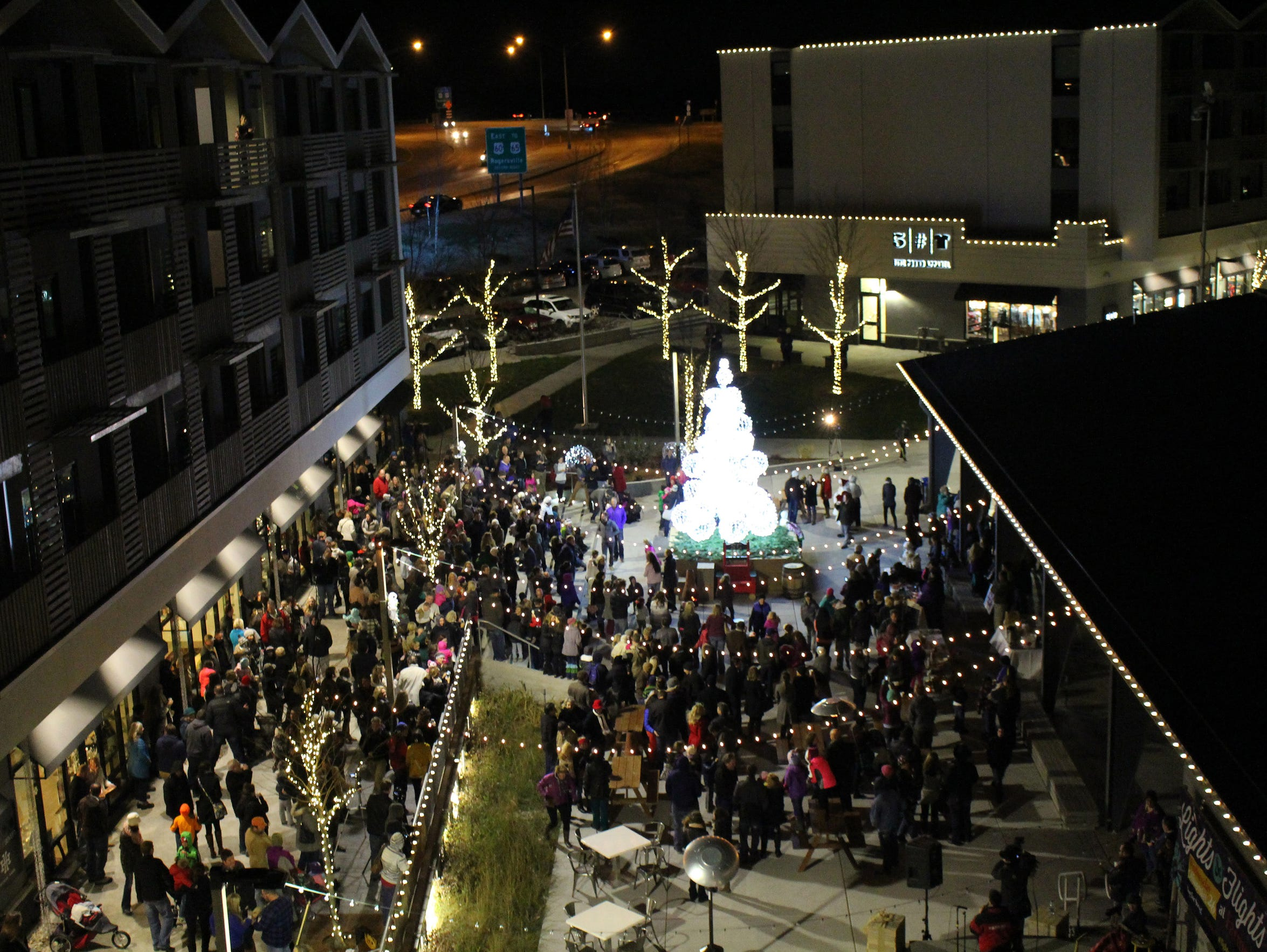 An aerial view of the 2014 Lights and Flights event