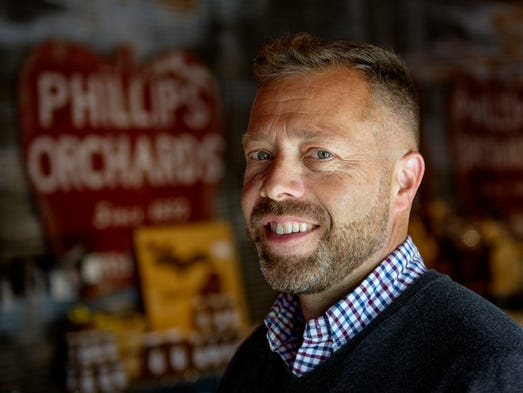 Phillips Orchards and Cider Mill owner Brian Phillips,