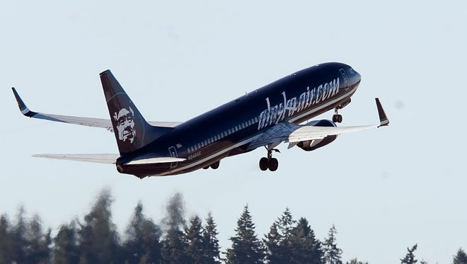 Alaska Airlines jets at Seattle-Tacoma International Airport on Sept. 12, 2008.