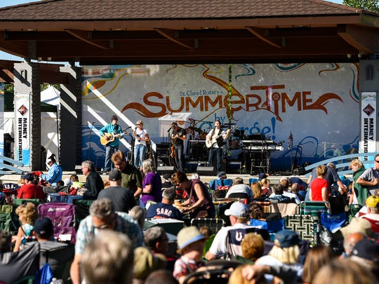 Harper's Chord plays for the crowd  Wednesday, June 13, for the first Summertime by George! event of the season at Lake George in St. Cloud.