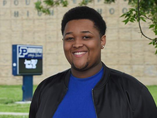 Daquez Green, 17, a senior at Poughkeepsie High School,