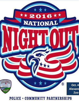 National Night Out will be observed Tuesday from 5-7 p.m. at the Alexandria Zoo, 3016 Masonic Drive in Alexandria.