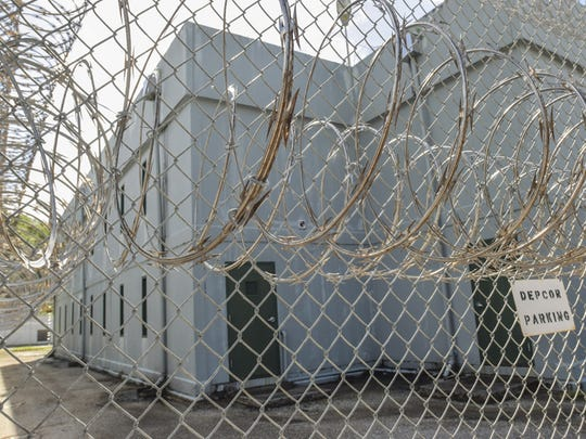 Coils of razor wire encompass the Department of Corrections' Hagåtña Detention Facility on June 22.