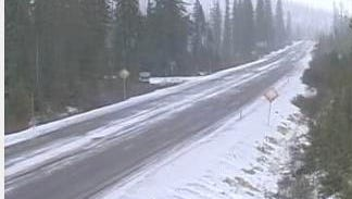 Snow is expected to hit Santiam Pass Monday night, Tuesday and Wednesday.