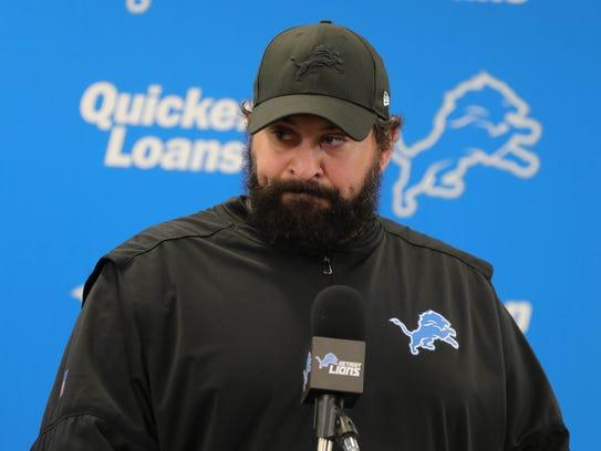 Detroit Lions head coach Matt Patricia took questions