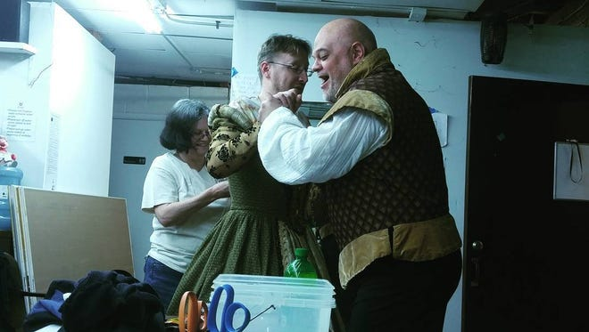 In keeping with the traditional performance styles of Shakespearean-era plays, the Montford Park Players will use an all-male cast for its production of 'The Dark Lady of the Sonnets.'