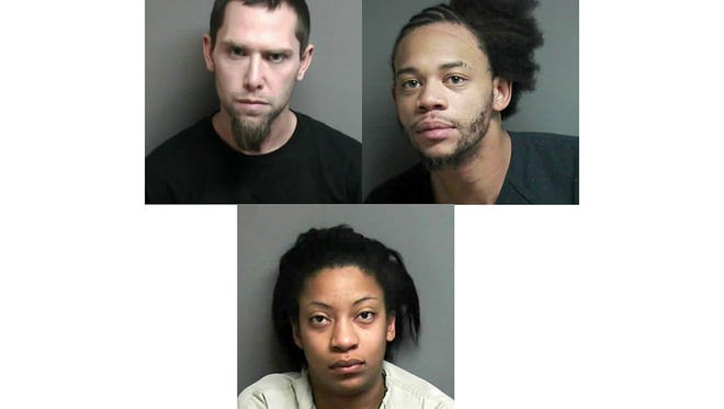 Clockwise from upper left, Randy Mahaffey, Christopher Jones and Ashley  Redmond. They are charged in the fatal shooting of  James Capizzo, 44, of Clinton Township. He was killed on Dec. 26 in front of a Mt. Clemens apartment in what police are calling a drug-related armed robbery gone wrong.