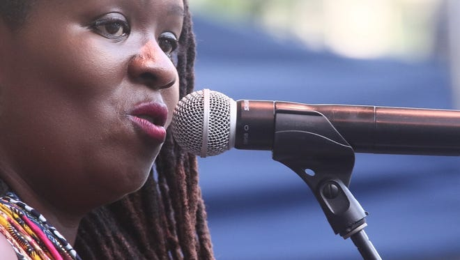 Singer Somi performs at the 2017 Clifford Brown Jazz Festival in Wilmington.