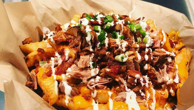 Loaded pork fries at West Alley BBQ in Chandler.