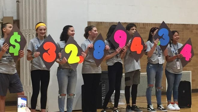 The Lebanon School District raised $32,894.34 to fight chiildhood cancer this year. The MiniTHON event took place Saturday at Lebanon Middle School.