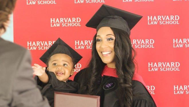 Briana Williams, a 24-year-old single mom, graduated from Harvard Law School last week.