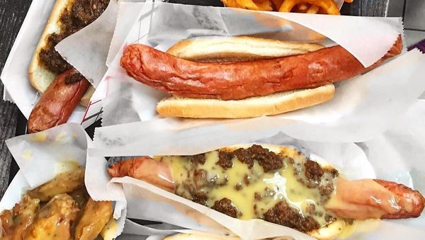Hot Dogs and fries at Callahan's in Norwood.