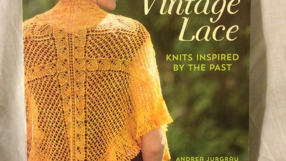 """New Vintage Lace"" by Andrea Jurgrau has 15 lace patterns based on German doily designs. The one on the cover is one of the few triangular shawls in the book."