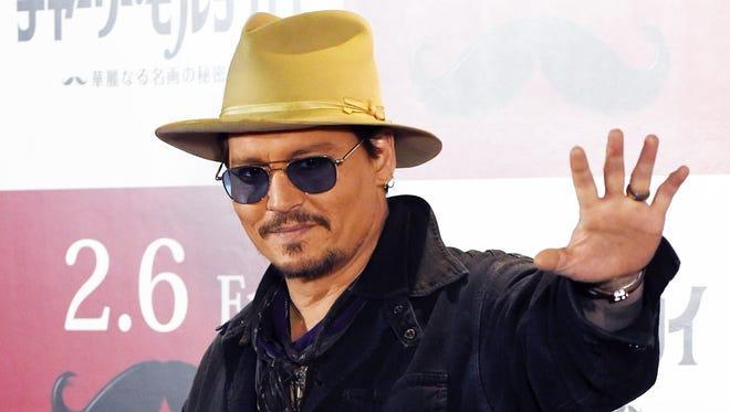 Johnny Depp in Tokyo on January 28 2015.