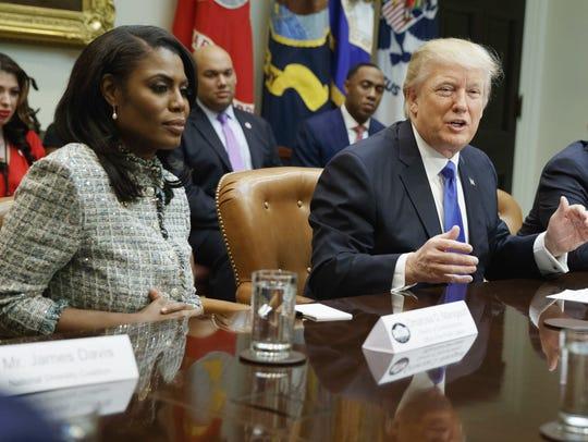 Omarosa Manigault Newman and President Donald Trump