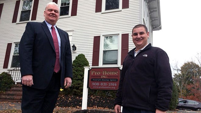 Former executive director of Pro-Home Inc. Joseph Pacheco, right, has stepped down from the post and was replaced in August by Michael Duff, left. Taunton Gazette photo by Charles Winokoor