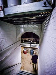 The entrance to the South boiler room is seen during the Guts of the Capitol tour Thursday October 6, 2016 at the Michigan State Capitol building in Lansing.  It is from here that all the buildings HVAC controls are maintained.  KEVIN W. FOWLER PHOTO