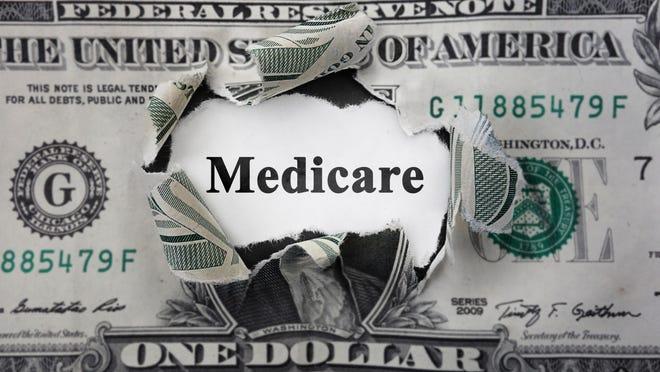 Medicare news headline, inside of torn dollar bill
