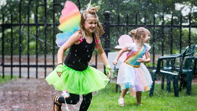 """Young """"faeries' enjoy the annual """"Faeries, Sprites and Lights"""" at Minnetrista in 2018."""