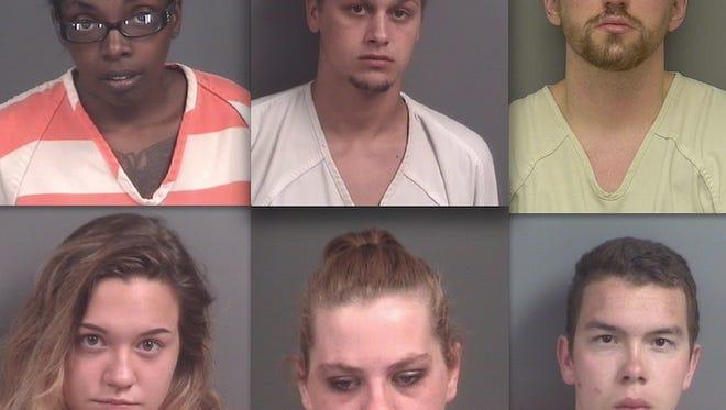 Top row, from left: Starkemia Taylor, Kyle Baleja and Steven Ward. Bottom: Torrian Alicea, Ashley Ray and Brett Gronda.