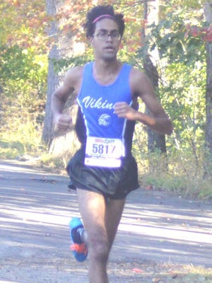 North Arlington senior Sirish Modhagala took first in the Bergen County Group D race with a time of 16:59.