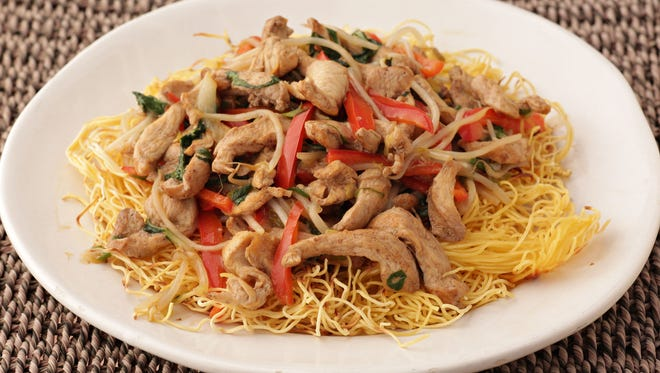 Chicken chow mein by Maggie Norris of Whisked Away as seen in Phoenix on Feb., 9, 2015.