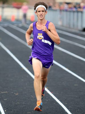 Unioto's Tucker Markko competes at Saturday's Scioto Valley Conference Cross Country Championships. Markko's Shermans finished first, winning yet another SVC title.