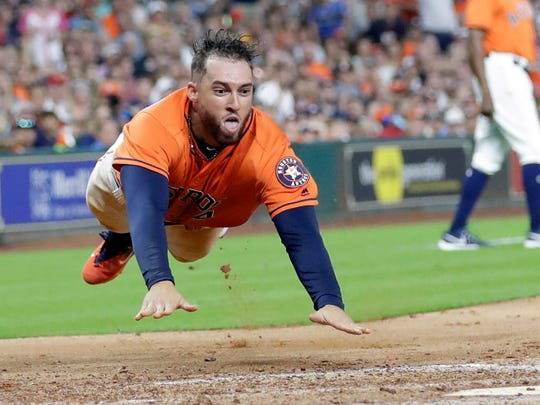 George Springer and the Astros have a huge lead in the AL West.