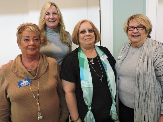 Carolyn Davi, left, Marsha Powers, Barbara Essenwine and Suzy Hutcheson at Center for Constitutional Values' annual Distinguished Speakers Luncheon on Jan. 15 at Piper's Landing.