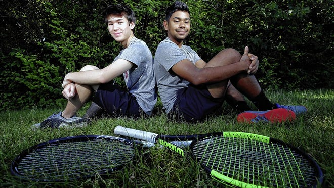 After winning a state doubles title last season, Columbus Academy graduate Rhian Seneviratne (right) was hoping to contend for another title this season, perhaps with classmate Ryan Wahl, before spring sports were canceled because of the COVID-19 coronavirus pandemic.