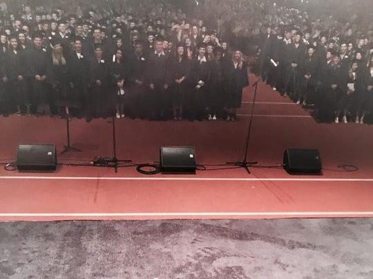 Pam Sherman's audiance; Brighton High School graduates.