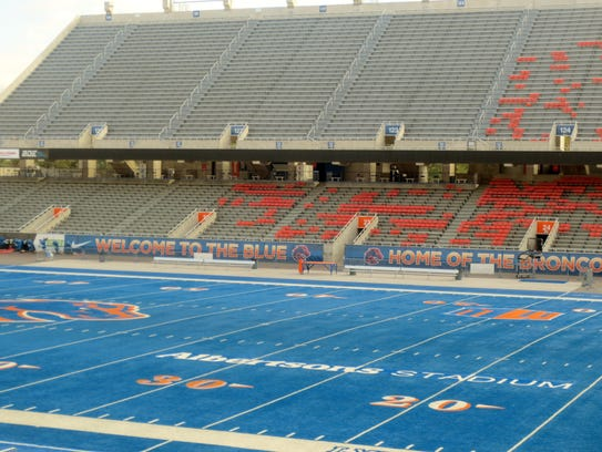 The famous blue turf at Boise State University's football